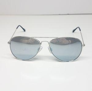 Mirrored Dark Gray Aviators